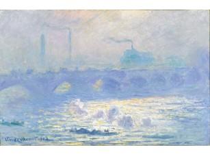 Картина: Клод Моне, Мост Ватерлоо