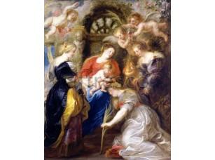 Картина: Питер Пауль Рубенс, Коронация Святой Екатерины