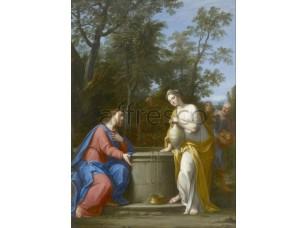 Картина: Франческини Маркантонио, Христос и женщина из Самарии