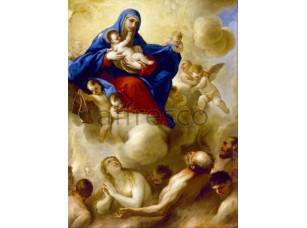 Картина: Лука Джордано, Мадонна с младенцем и души в чистилище