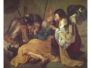 Картина: Хендрик Тербрюгген, Освобождение Святого Петра