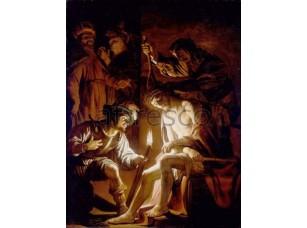 Картина: Геррит ван Хонтхорст, Осмеяние Христа
