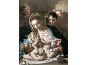 Картина: Франческо Солимена, Мадонна и дитя