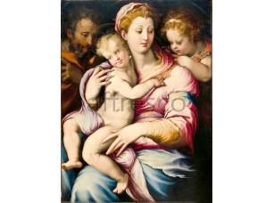 Картина: Франческо Сальвиати, Святая семья и Иоанн Креститель