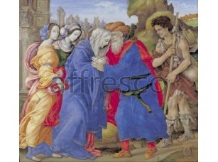 Картина: Филиппино Липпи, Встреча Иоакима и Анны за пределами Золотых ворот Иерусалима