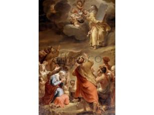 Картина: Фердинанд Боль, Моисей спускается с горы Синай с 10 заповедями