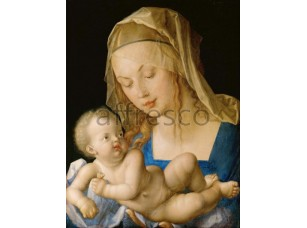 Картина: Альбрехт Дюрер, Мадонна с младенцем и грушей