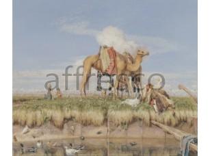 Картина: Джон Фредерик Льюис, На берегах Нила, Верхний Египет