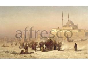 Картина: Луис Комфорт Тиффани, На пути между старым и новым, Каир Цитадель Мечеть Мухаммеда Али и Гробницы мамлюков