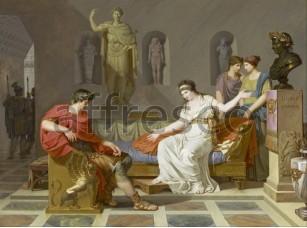 Картина: Louis Gauffier, Клеопатра и Октавиан