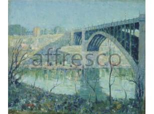 Картина: Престон Дикинсон, Река Гарлем зимой