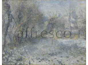 Картина: Огюст Ренуар, Снежный пейзаж