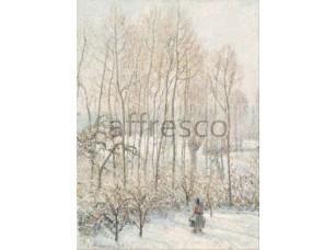 Картина: Камиль Писсарро, Morning Sunlight on the Snow Eragny sur Epte