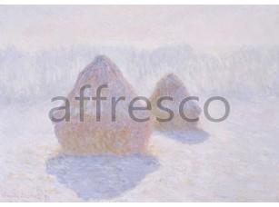 Картина: Клод Моне, Стога, солнце и снег