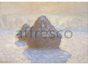 Картина: Клод Моне, Стога, солнце и снег 2