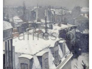 Картина: Гюстав Кайботт, Крыши под снегом
