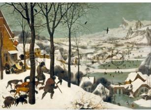 Картина: Питер Брейгель, Охотники на снегу