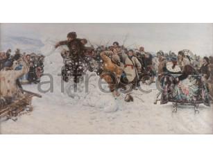 Картина: Василий Иванович Суриков, Взятие снежного городка