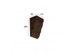 Консоль для архитектурного бруса 120х75мм, африканский палисандр