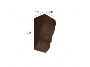 Консоль для архитектурного бруса 150х95мм, африканский палисандр