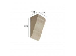 Консоль для архитектурного бруса 135х85мм, белое дерево