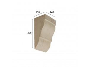 Консоль для архитектурного бруса 150х95мм, белое дерево