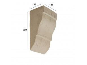Консоль для архитектурного бруса 180х110мм, белое дерево