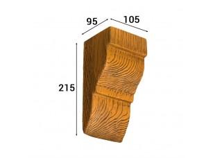 Консоль Cosca Deco для балки 120х120мм классика, дуб светлый