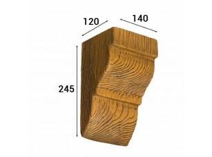 Консоль Cosca Deco для балки 150х120мм классика, дуб светлый