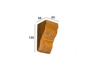 Консоль Cosca Deco для балки 90х60мм классика, дуб светлый