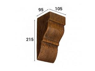Консоль Cosca Deco для балки 120х120мм классика, дуб темный