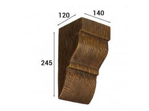 Консоль Cosca Deco для балки 150х120мм классика, дуб темный