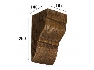 Консоль Cosca Deco для балки 200х130мм классика