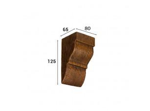 Консоль Cosca Deco для балки 90х60мм классика, дуб темный