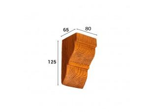 Консоль Cosca Deco для балки 90х60мм классика, орех медовый