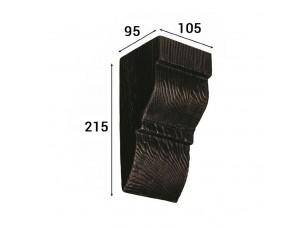 Консоль Cosca Deco для балки 120х120мм классика, венге