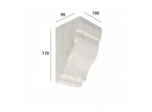 Консоль для балки 120х120мм, белый