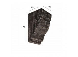Консоль для балки 120х120мм, дуб состаренный