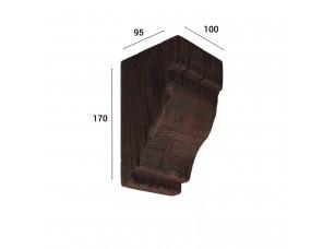 Консоль для балки 120х120мм, махагон