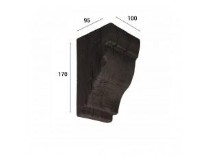Консоль для балки 120х120мм, венге