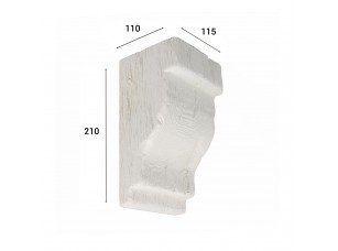 Консоль для балки 150х120мм, белый