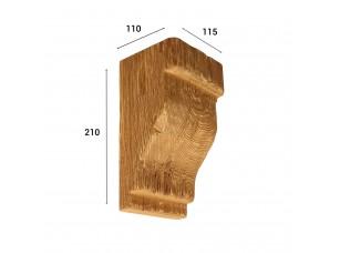 Консоль для балки 150х120 мм, дуб светлый