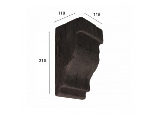 Консоль для балки 150х120, венге