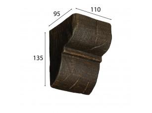 Декоративная консоль Cosca для балки 120х120, венге