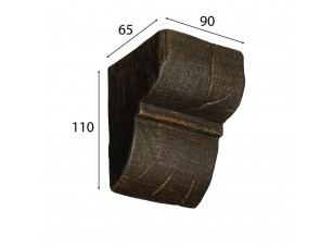 Декоративная консоль Cosca для балки 90х60, венге