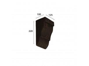 Консоль для архитектурного бруса 135х85мм, красный сандал