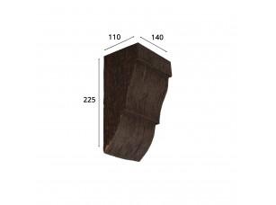 Консоль для архитектурного бруса 150х95мм, красный сандал