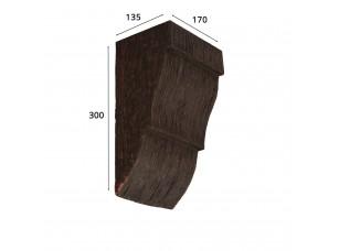 Консоль для архитектурного бруса 180х110мм, красный сандал