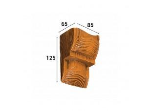 Консоль Cosca Deco для балки 90х60мм модерн, орех медовый