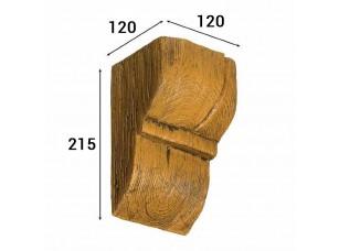 Консоль Cosca Deco для балки 150х120мм рустик, дуб светлый